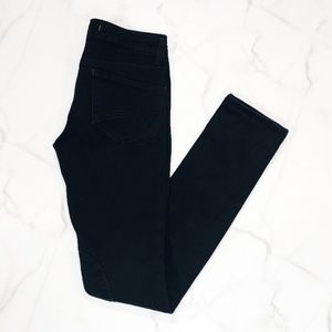 J Brand Black Moto Knee Patch Jeans 91288